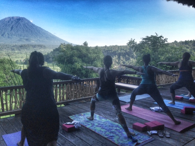 Bali Asli is nestled in the foot hills of Mount Agung, Bali's most sacred mountain, surrounded by rice fields and breath taking views. Students will get to practie yoga in this stunning location followed by a trek and delicious brunch.